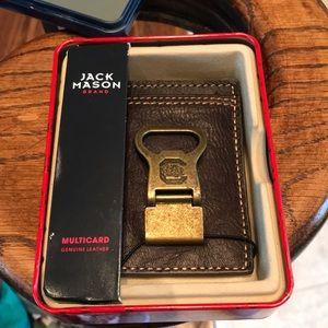 Jack Mason brand leather card holder